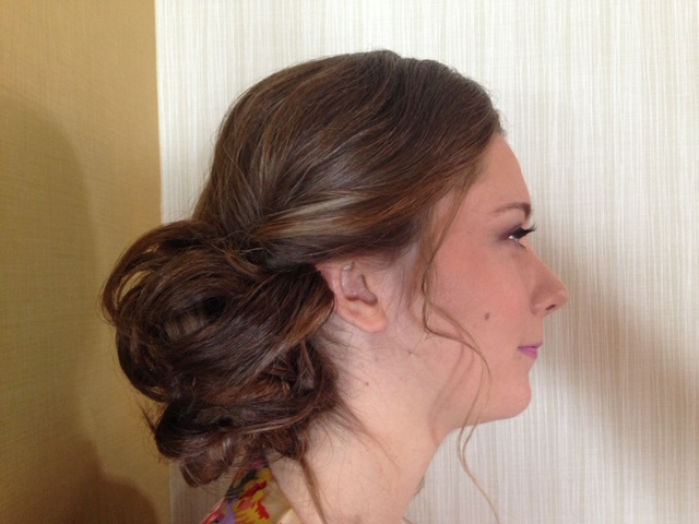 Updo With Loose Curls 6