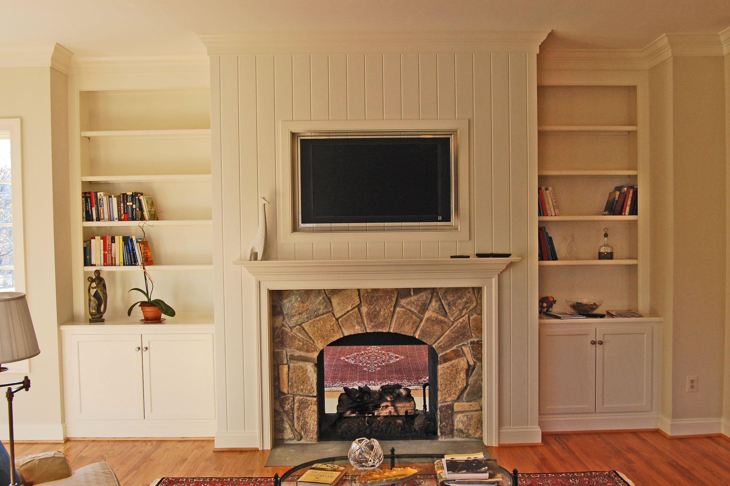fireplace renovation after B
