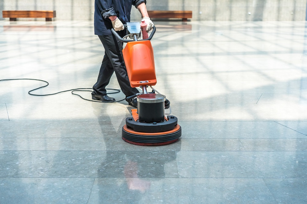 Waxing Commercial Floors