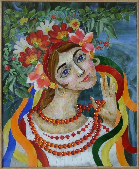 """Ukrainian Girl"" by Nataliya Guchenia Size - 19-1/2""H X 15-1/2""W $2,500.00"