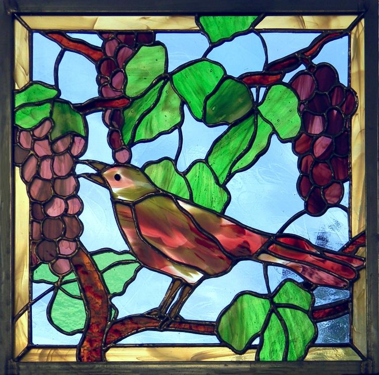 """Vine Garden"" by Nataliya Guchenia Glass Size - 12 3/8""H X 13""W $235.00"