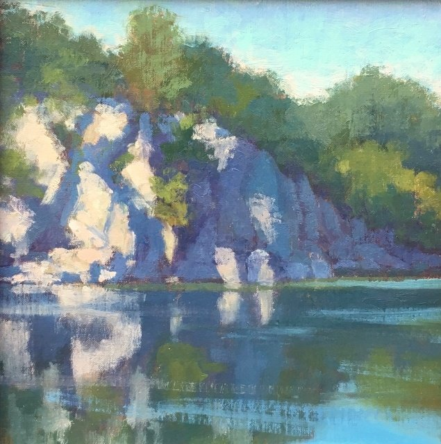 "Meg Walsh, Potomac Gorge, 10"" x 10"" Oil"