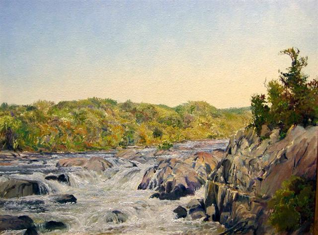 52. Great Falls, 14x18 oil on canvas