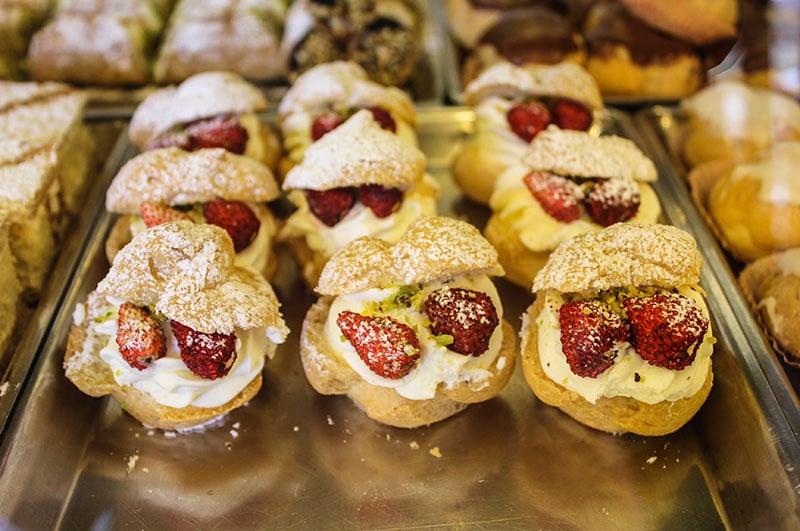 Strawberry pastry dessert