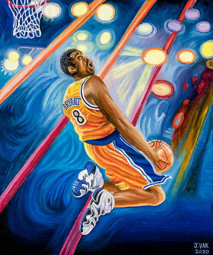 Kobe Bryant 30 X 24 Original Oil $1200 2020