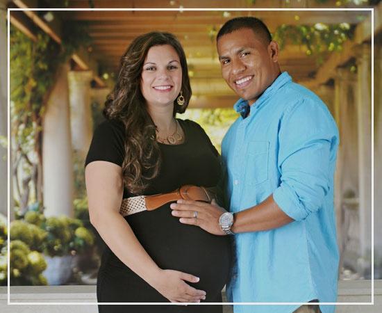 Happy Biracial Pregnancy
