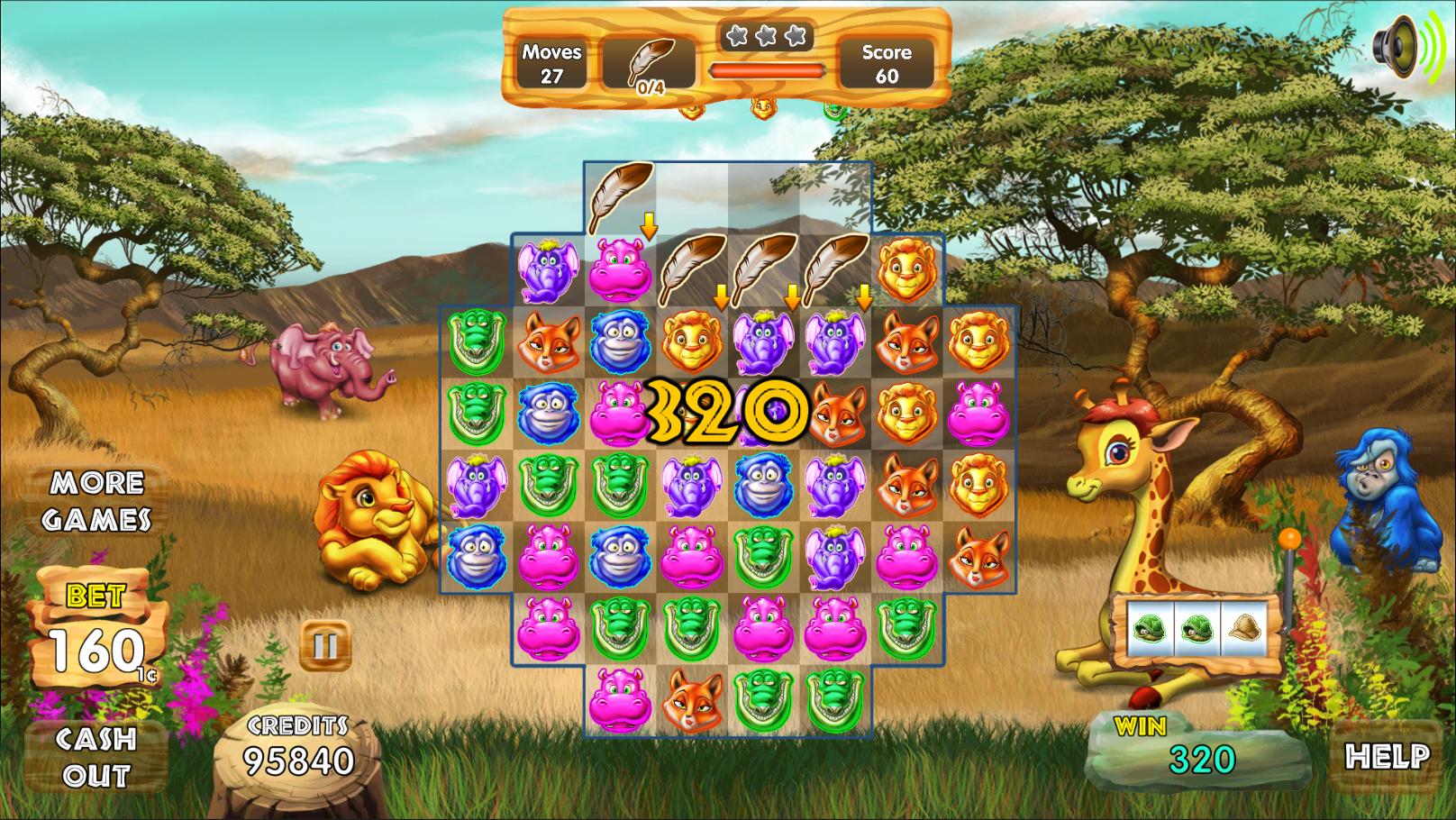 Safari Match Gameplay Screen