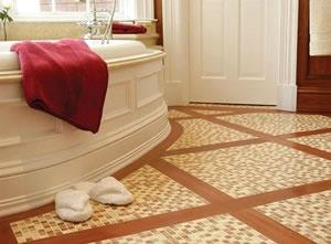 bathroom floor tile installation in Alpharetta