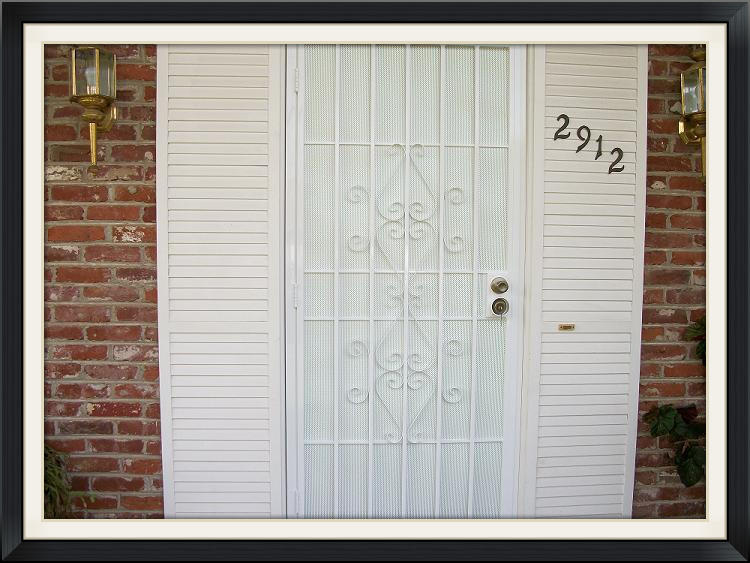 Elegante security screen door
