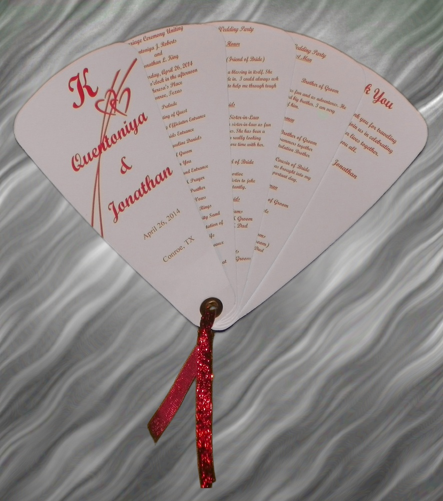 Wedding Program Fan There beautiful wedding fan are awesome and a keepsake