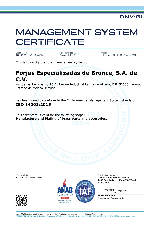 ISO 14001-2015 ANAB