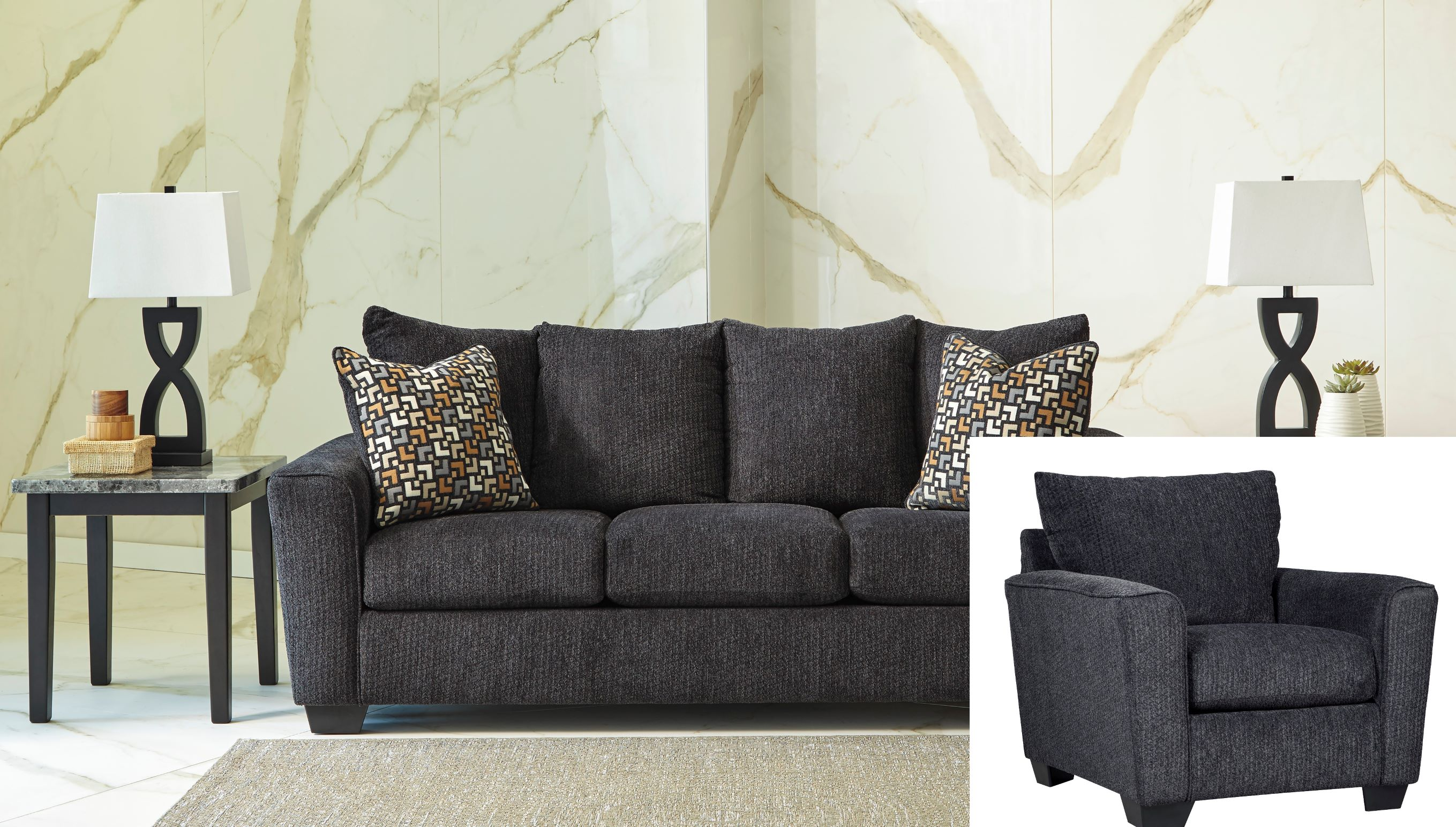 57002 Sofa and Chair