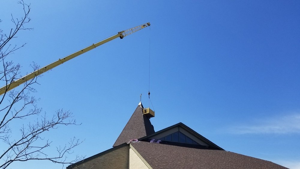 Church roof during project