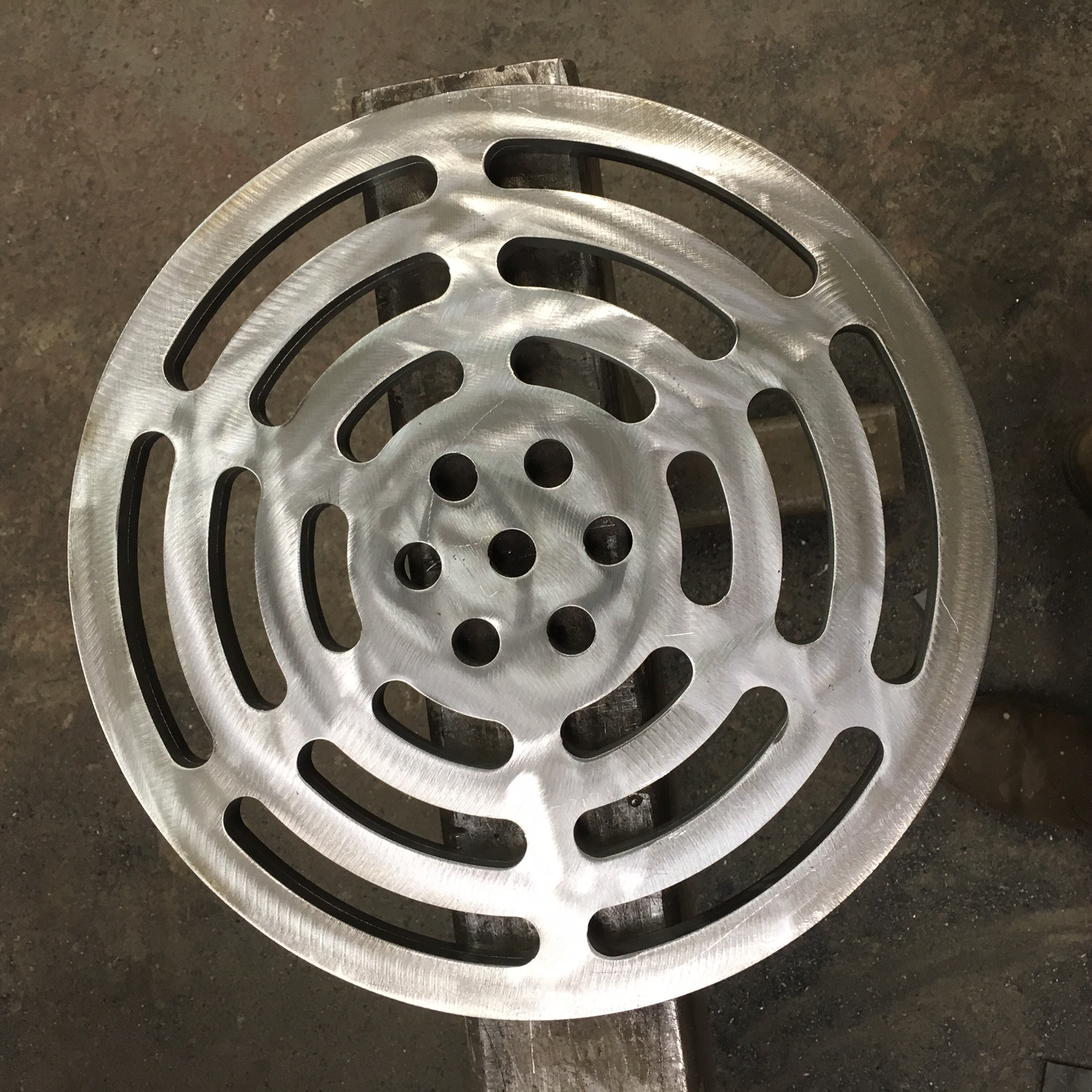 Manhole cover ready to be galvanised