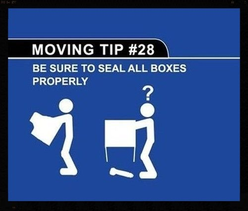 moving tip: seal boxes properly