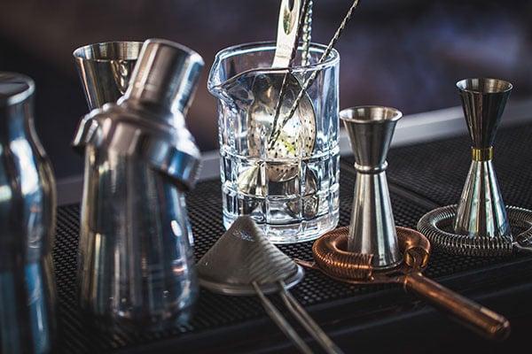 Classic Bar Cocktail Shaker, Bartender Tools, A Set Of Equipmen