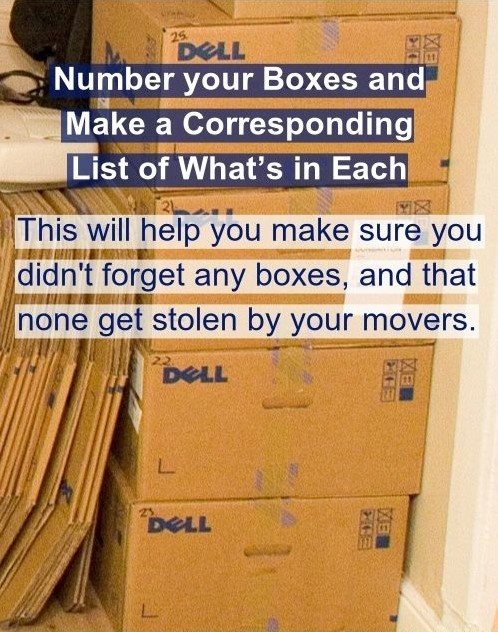trick on labeling boxes in storage unit