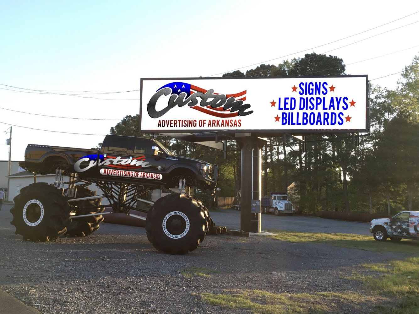 10'x40' Watchfire LED located at Custom Advertising Bryant, AR
