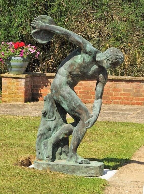 Verdigris finish on an iron sculpture