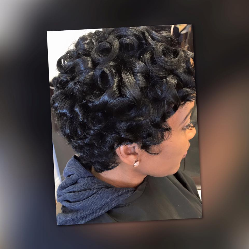 Short curly style