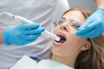 Girl in dentistry