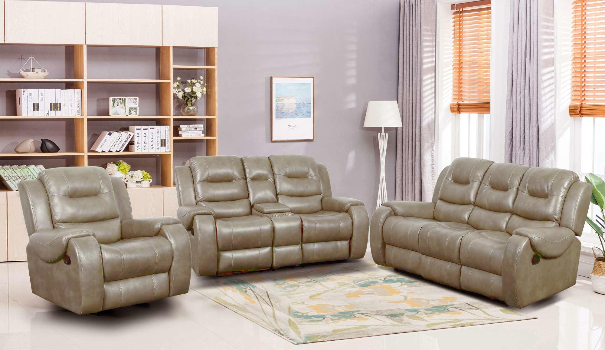 Reclining sofa and Loveseat Set LRPX2908MU Jasper Mushroom