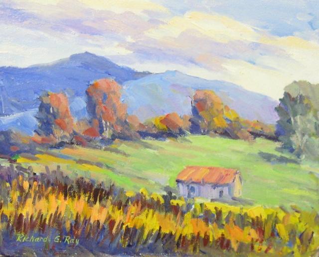 October Hills, 8 x 10 Oil
