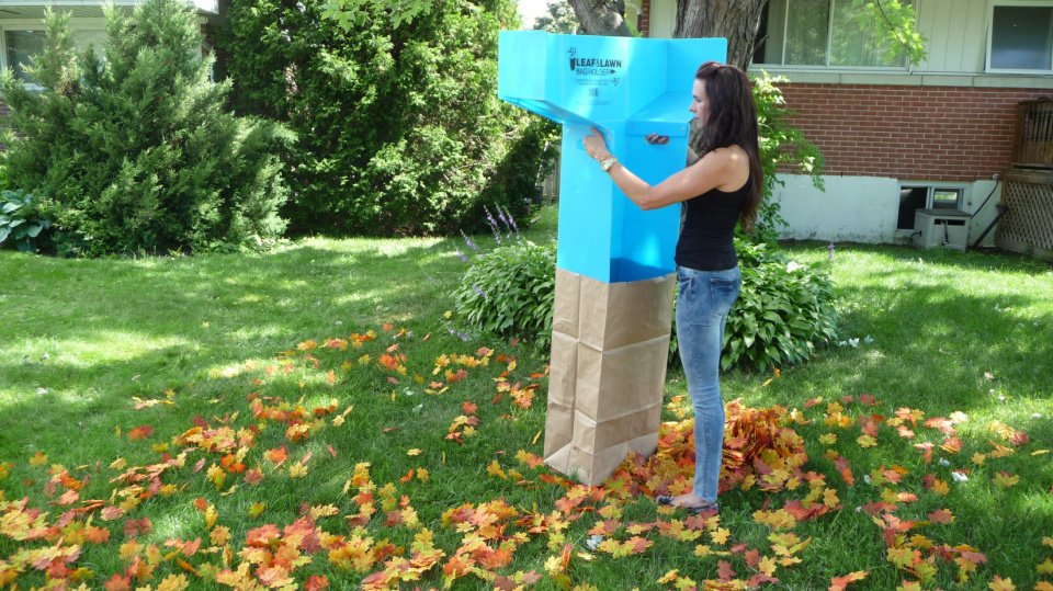 Leaf 2 Bag Funnel Pack of 1 for Raking into Paper Lawn Bags