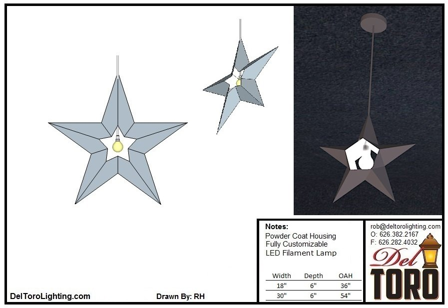 207P-Star 5 Point Pendant