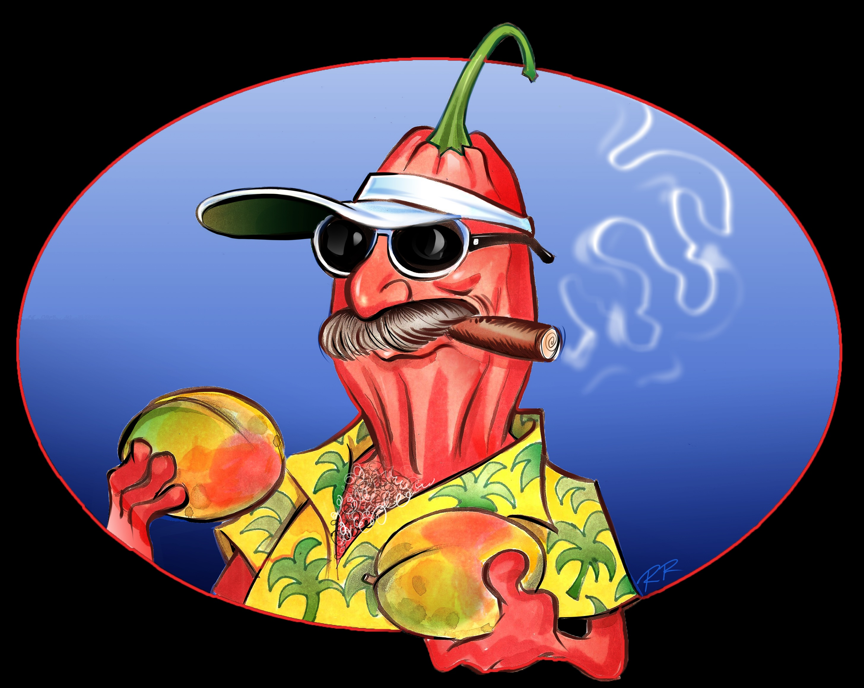 "Cartoon Mascot for ""Pearl's Next   Generation"" hot sauce"