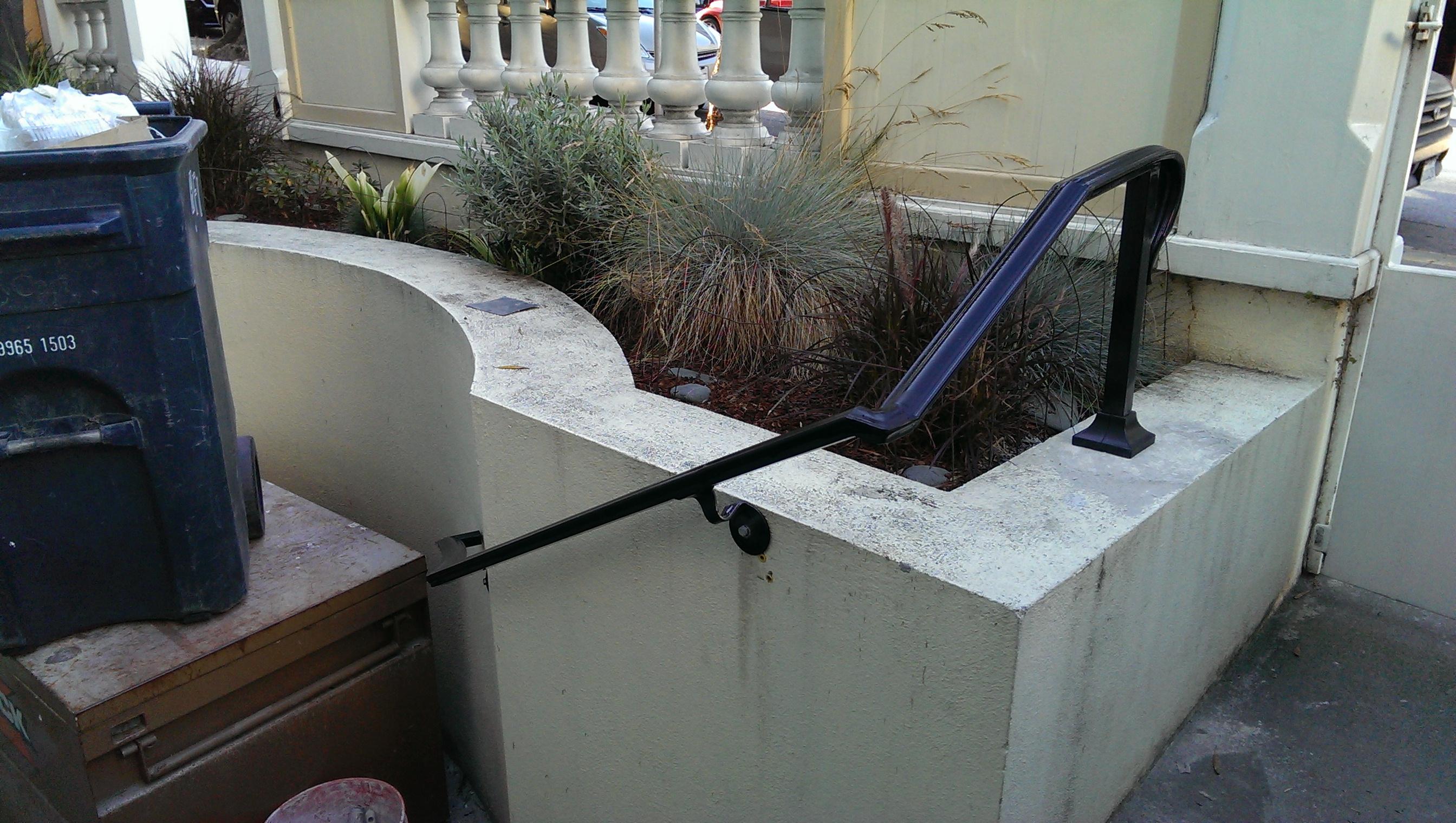 Handrail Example 3 (Molded Cap, sometimes referred to as Mushroom Cap)