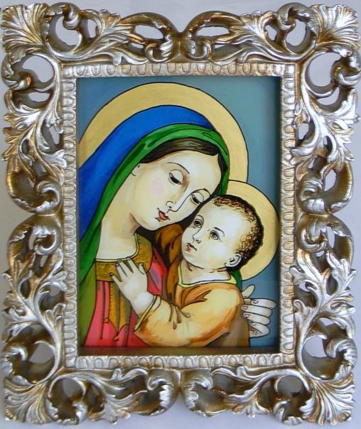 """Madonna and Child "" by Nataliya Guchenia  Size - 11""H X 14""W $125.00"