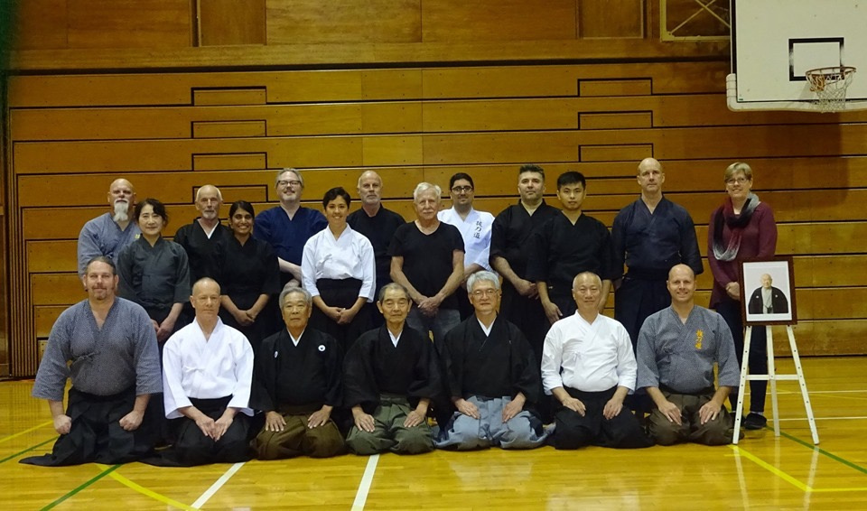 Pre-taikai training group photo. Mat Rous not enjoying seiza.
