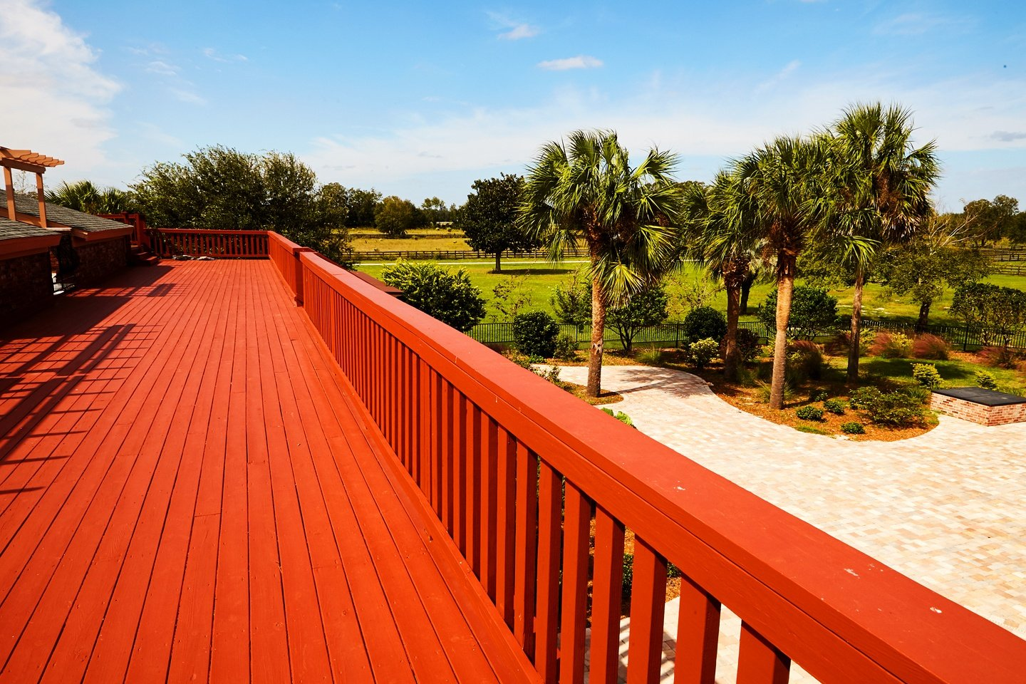 Red Wooden Deck