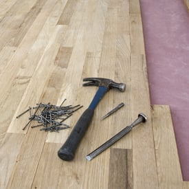 Tools on Hardwood Floor