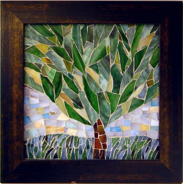 """Tree"" by Nataliya Guchenia Glass Size - 8""H X 8""W $150.00"