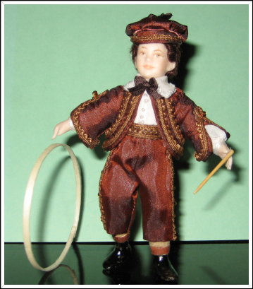 12TH SCALE  VICTORIAN BOY WITH HOOP