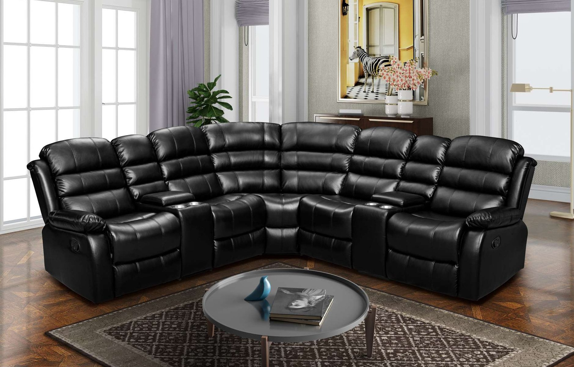 LRPX2931 3 Piece Reclining Sectiona;l Sofa