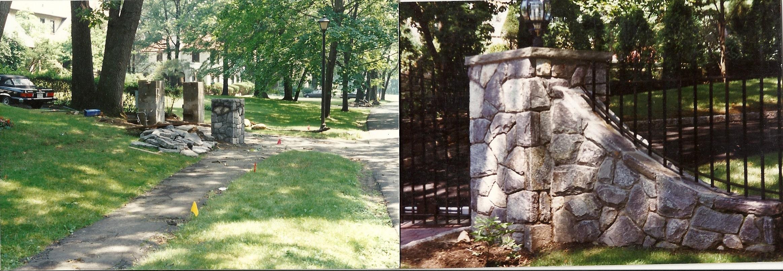 Square-Concrete Walkway