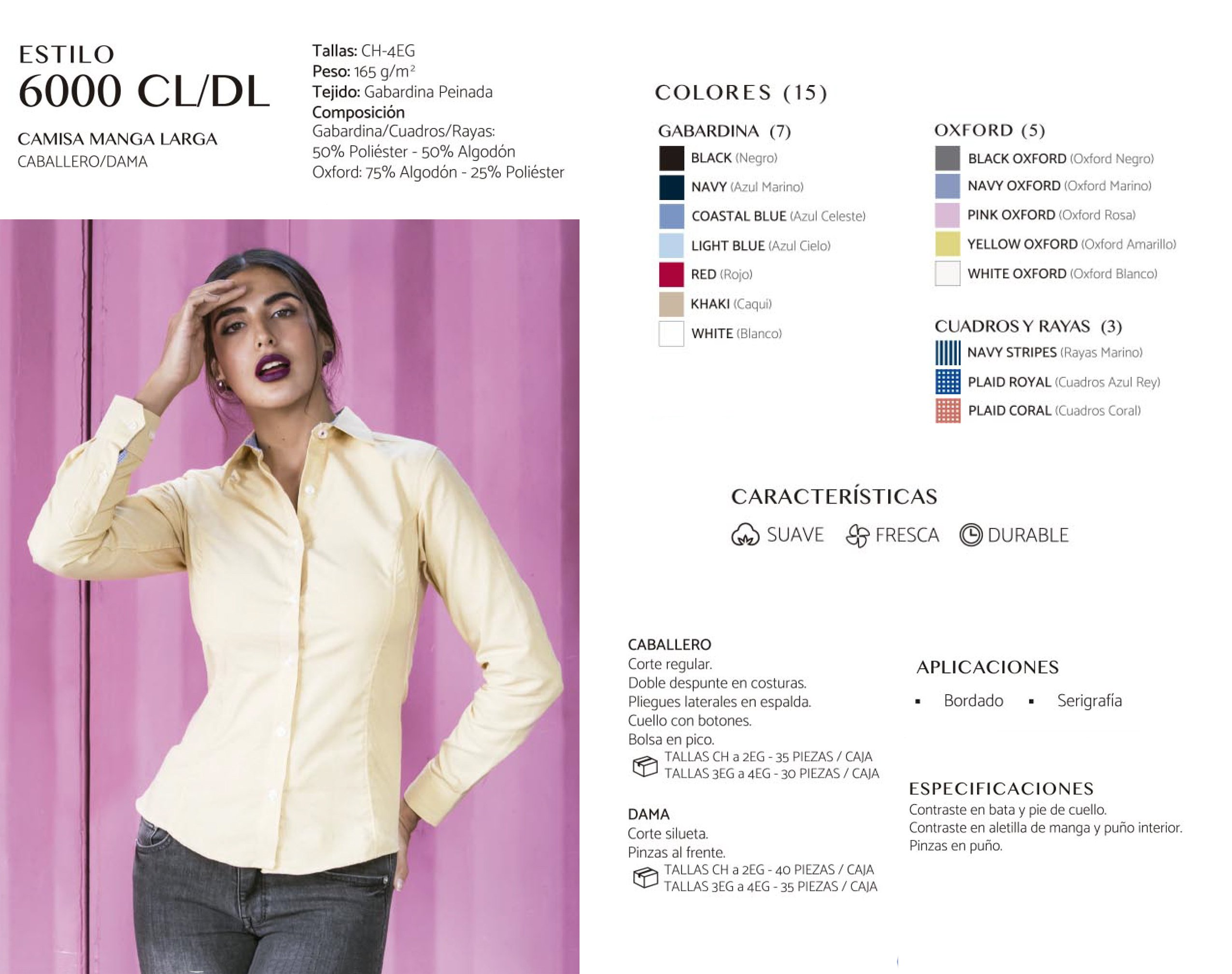 Camisa  Manga Larga  6000 CL/DL