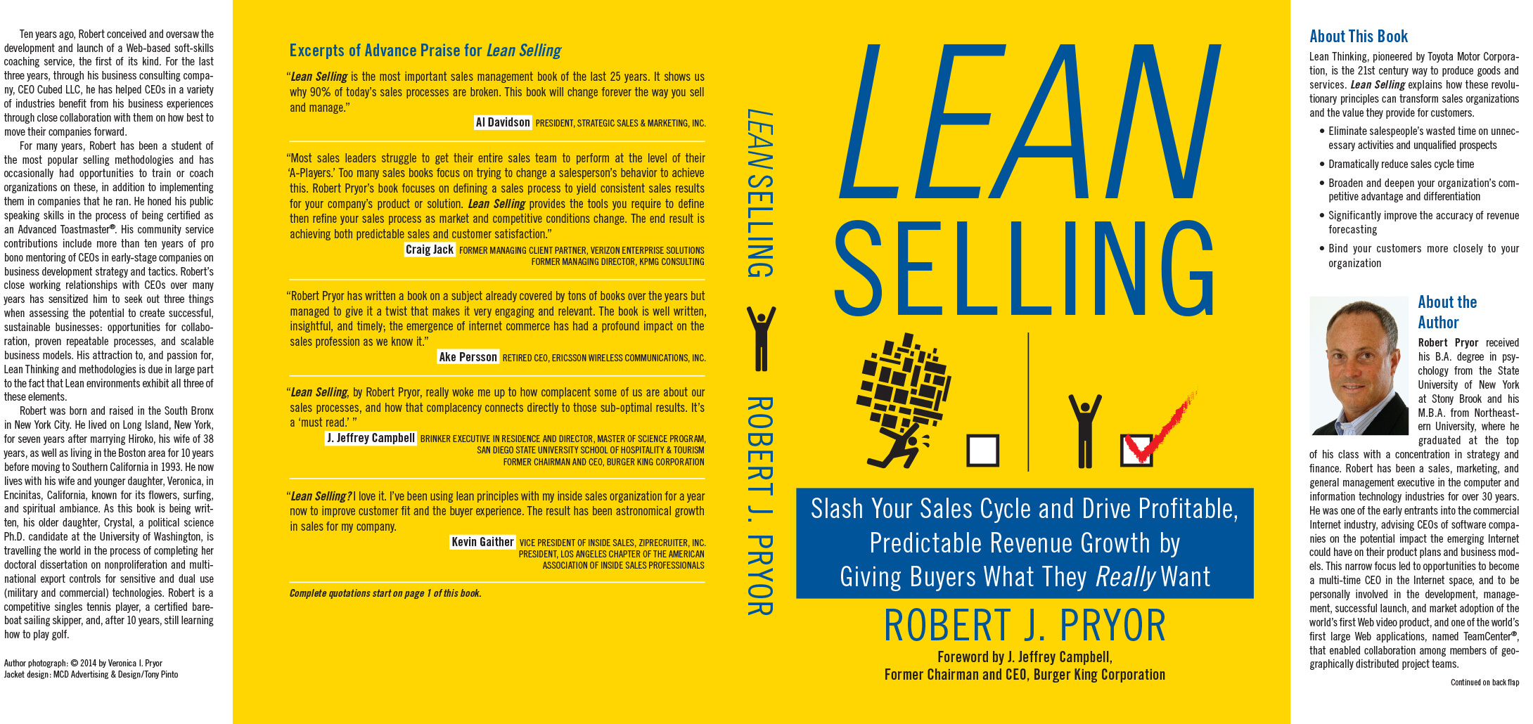 Lean Selling | Robert J. Pryor Dust Jacket