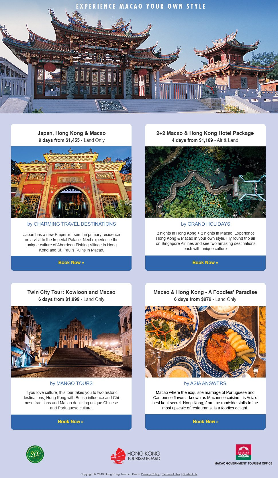 Experience Macao Your Own Style