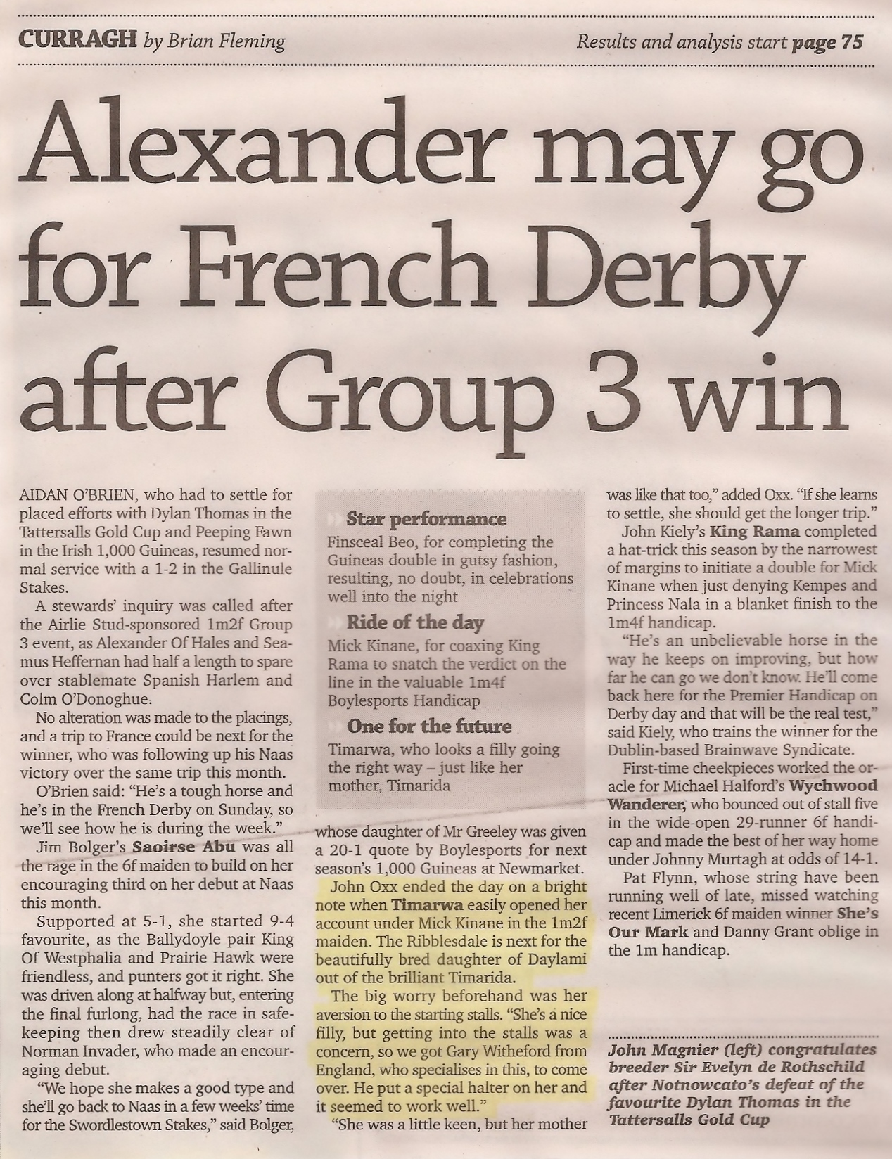 May 2007 - Racing Post