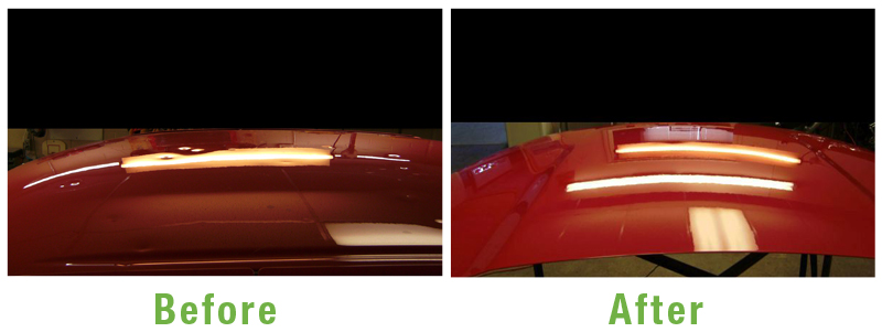 Paintless Dent Service Before and After