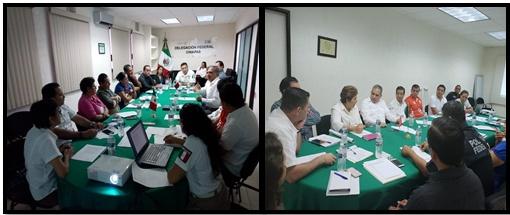 11/07/18 El día de hoy se llevó a cabo la reunión del Comité Interinstitucional de atención a Víctimas de Trata de personas en Chiapas, correspondiente al mes de julio del 2018, en donde se trataron temas relacionados a Víctimas de Trata, y  delitos que se han incrementado en la región como también el seguimiento a  los acuerdos de las reuniones anteriores.  La reunión tuvo lugar en la sala de  juntas, Delegación Federal INM.