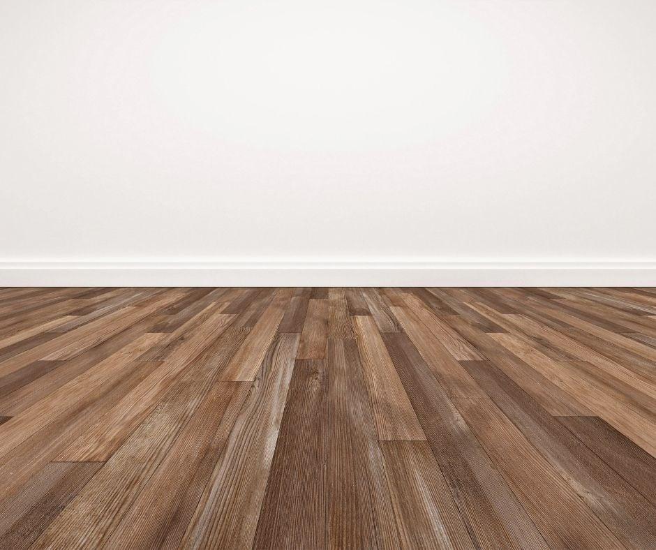 Hardwood floor in an empty room.