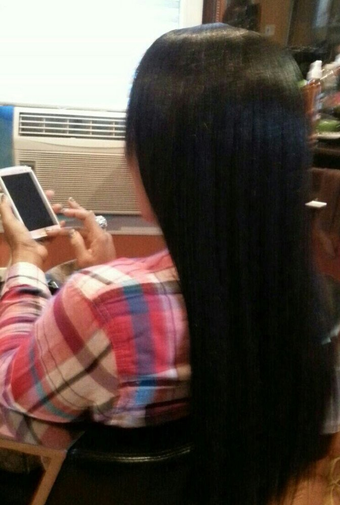 Sew - in  Weave Middle part