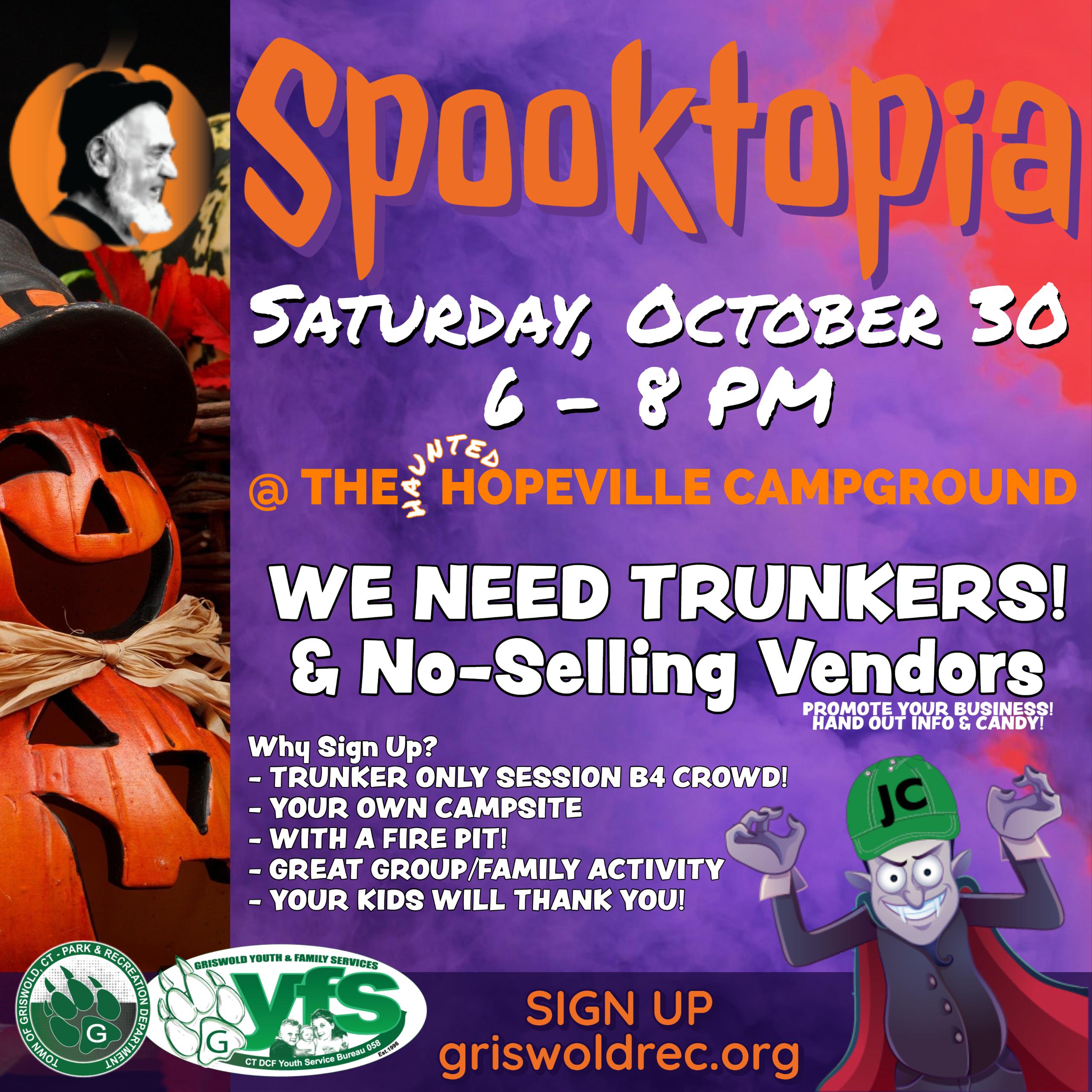 Spooktopia! Be a Vendor/Trunker (click to sign up)