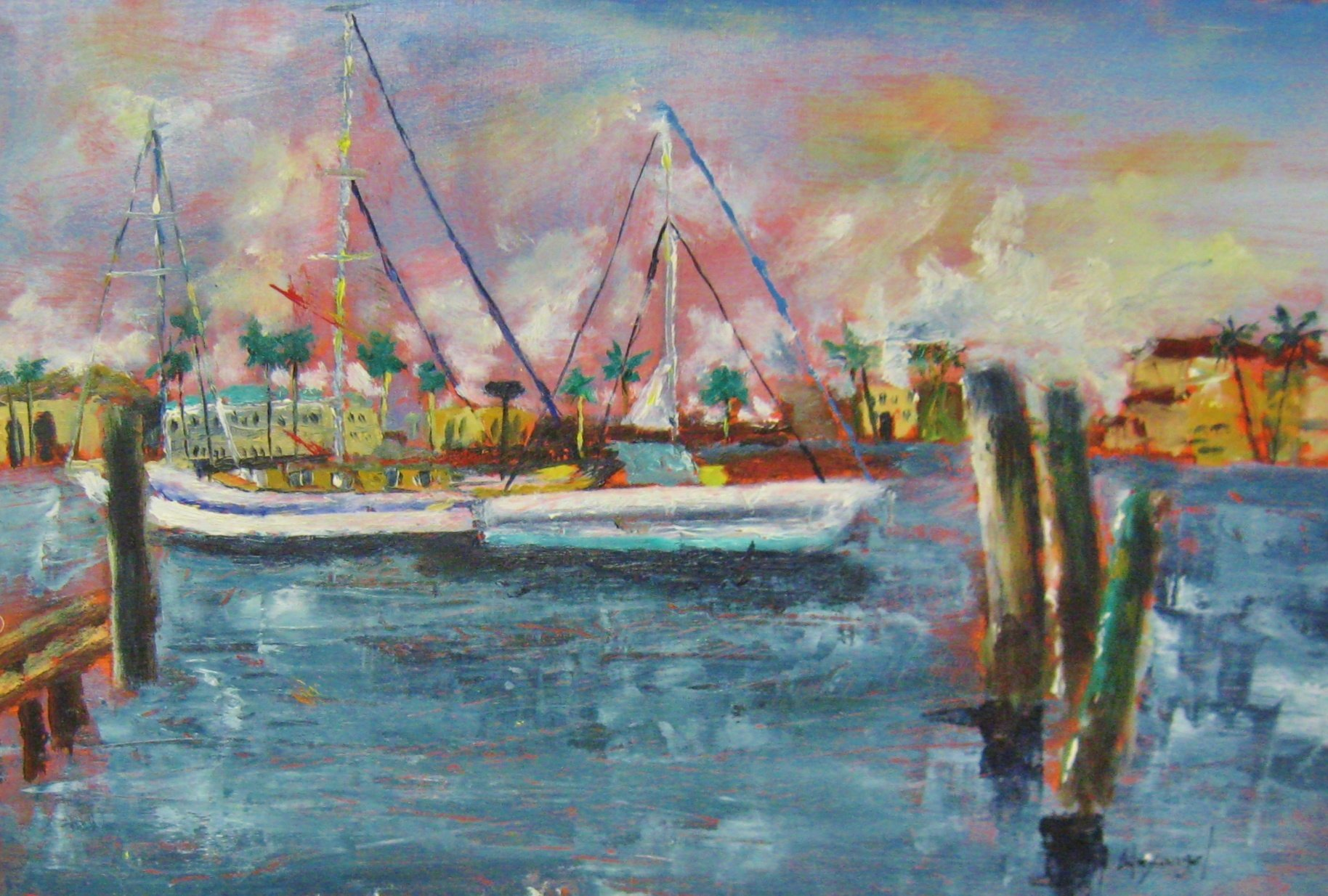 "Alexangel Estevez, Inner Harbor, 8"" x 12"" Oil"