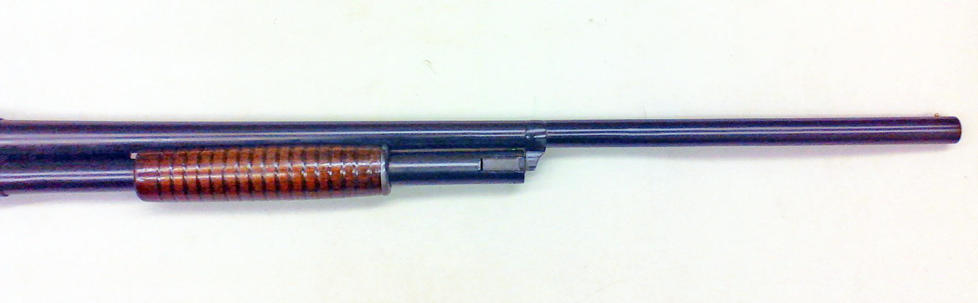 Remington model 11 barrel cerakoted with Socom blue.